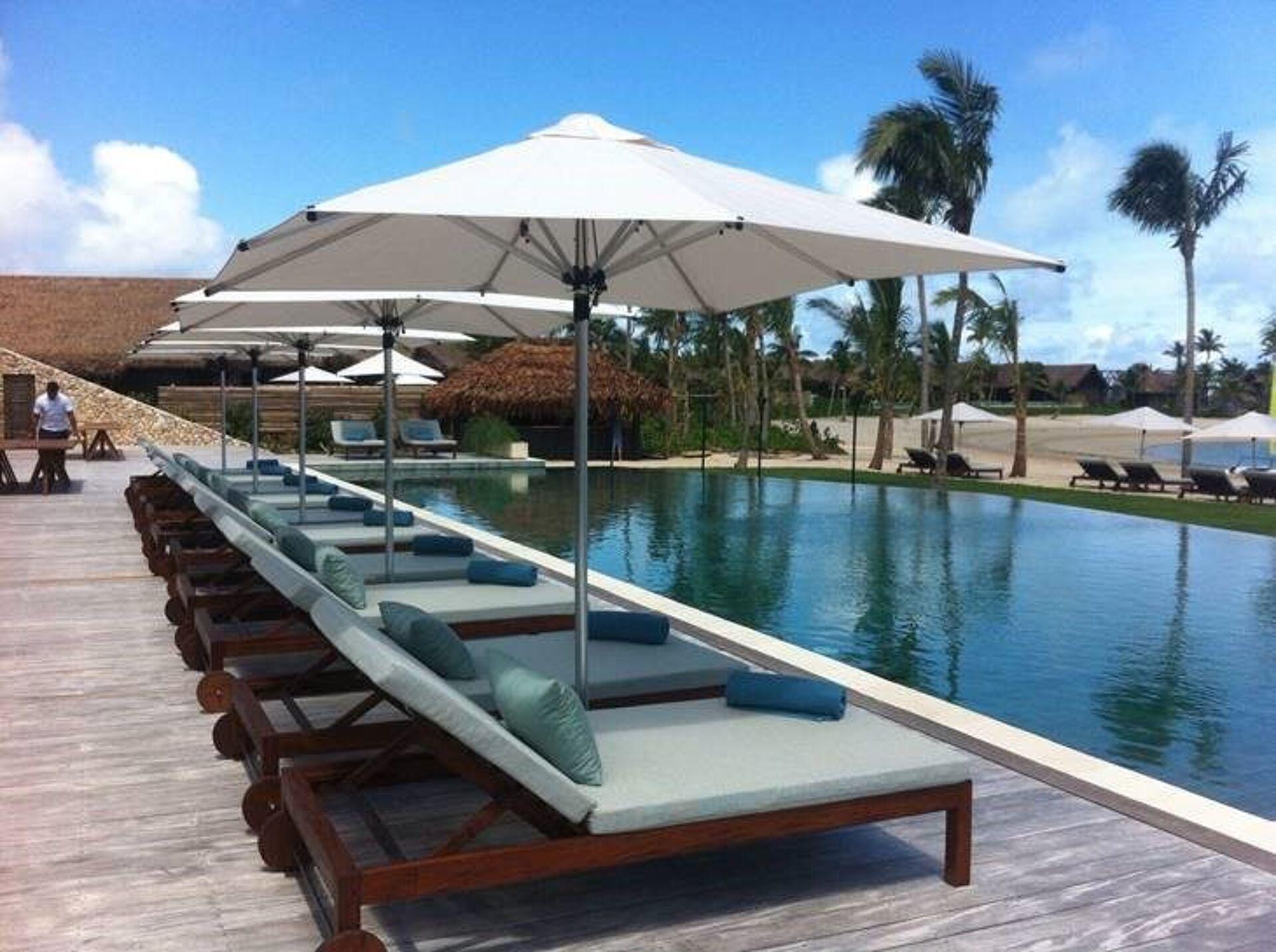 Six Senses Fiji Monaco and Riviera Sun Umbrellas