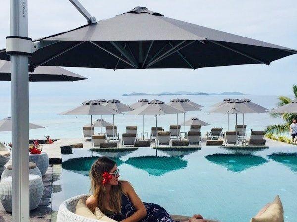 Matamanoa Island Resort NZ Outdoor Umbrella