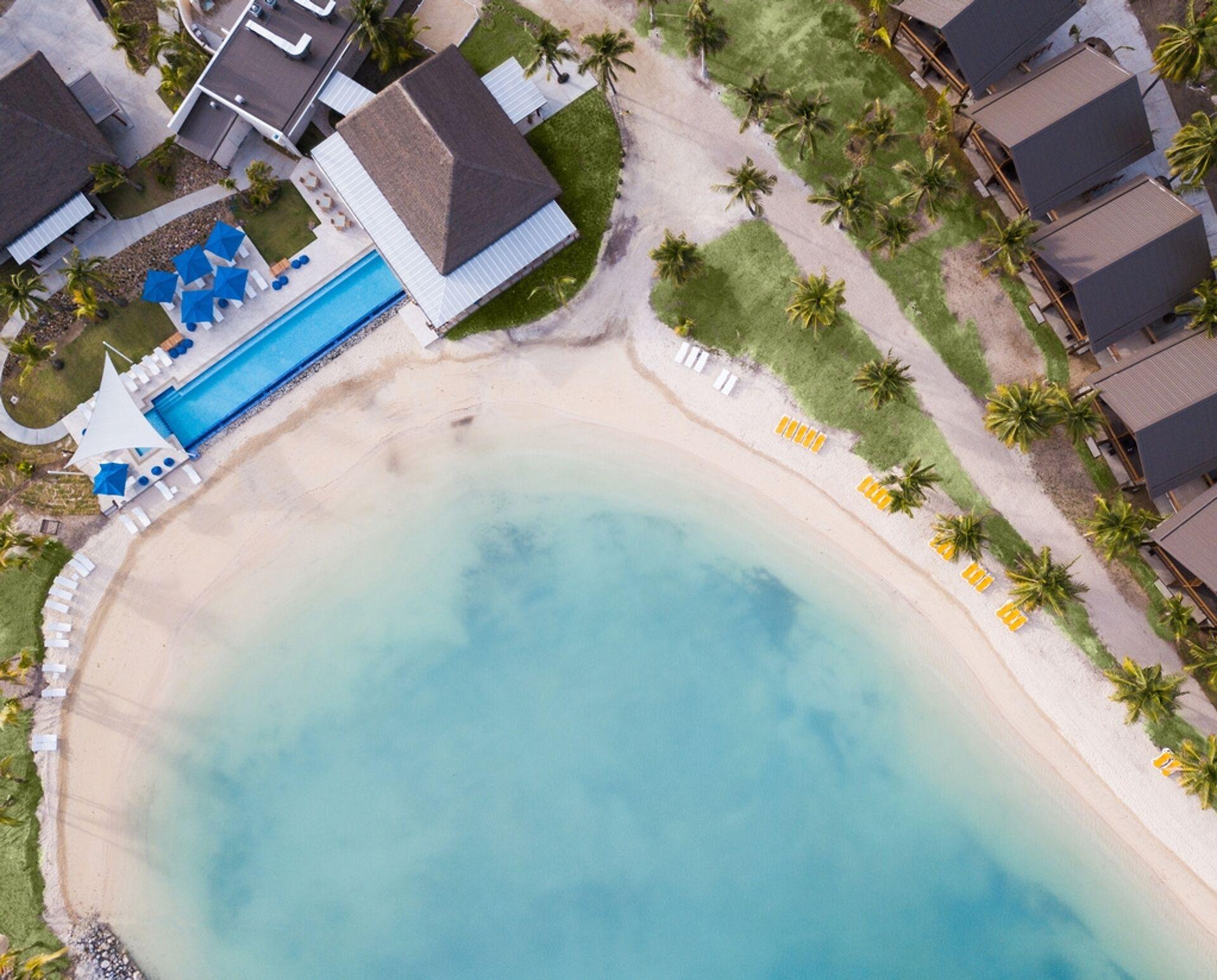 Plantation Island Resort Fiji Monaco Outdoor Commercial Umbrella