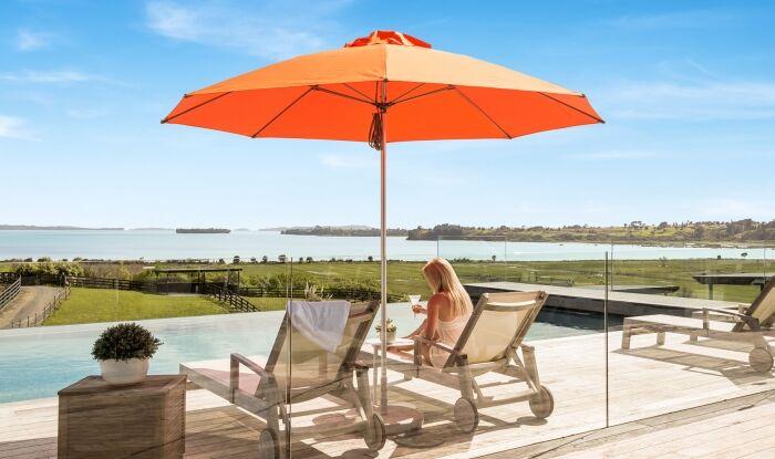 Orange Outdoor Sun Umbrella - Shade7 Venice