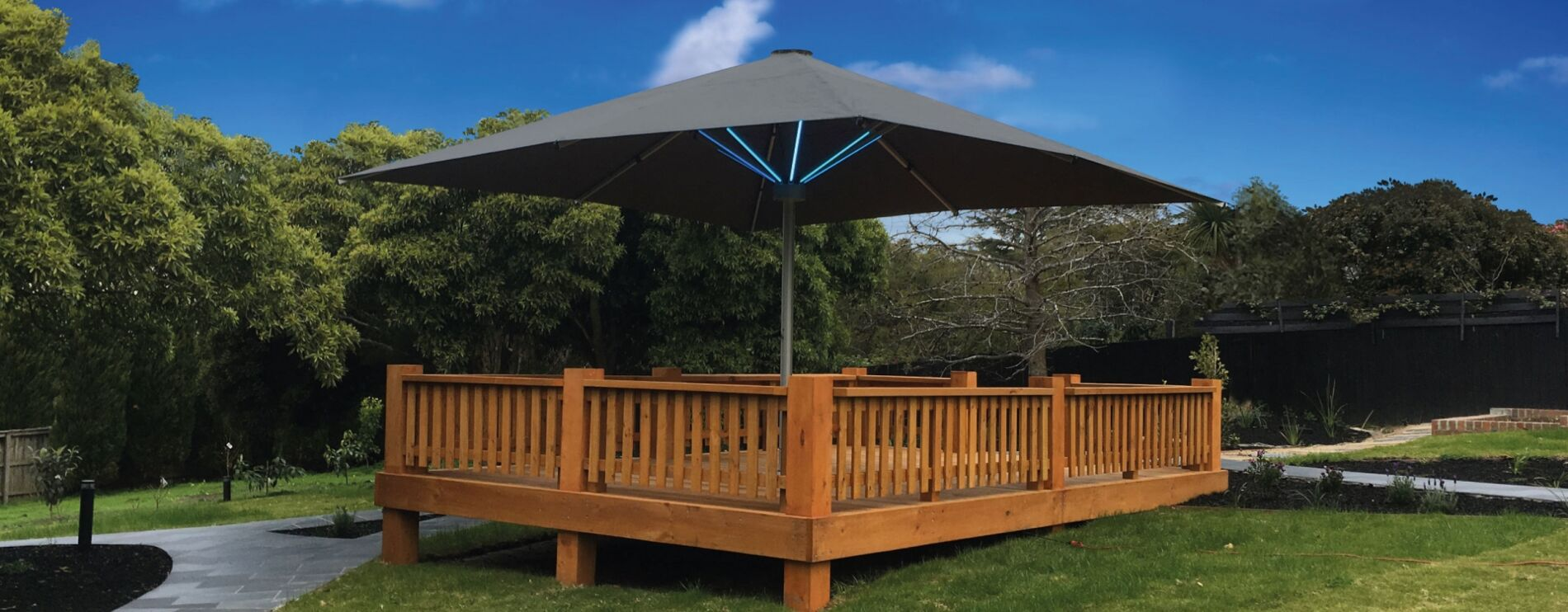 Tempest LED Umbrella with Lights