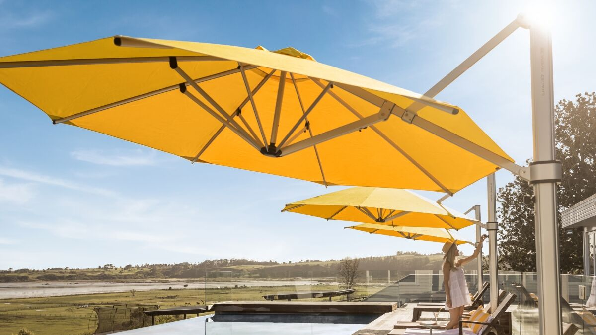 Riviera Yellow Cantilever Umbrella