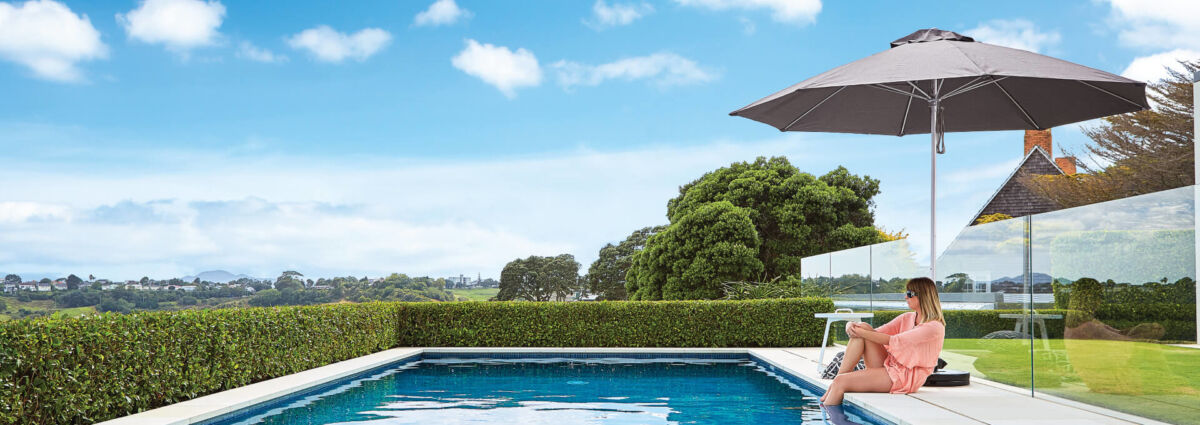 Charcoal Grey Outdoor Sun Umbrella