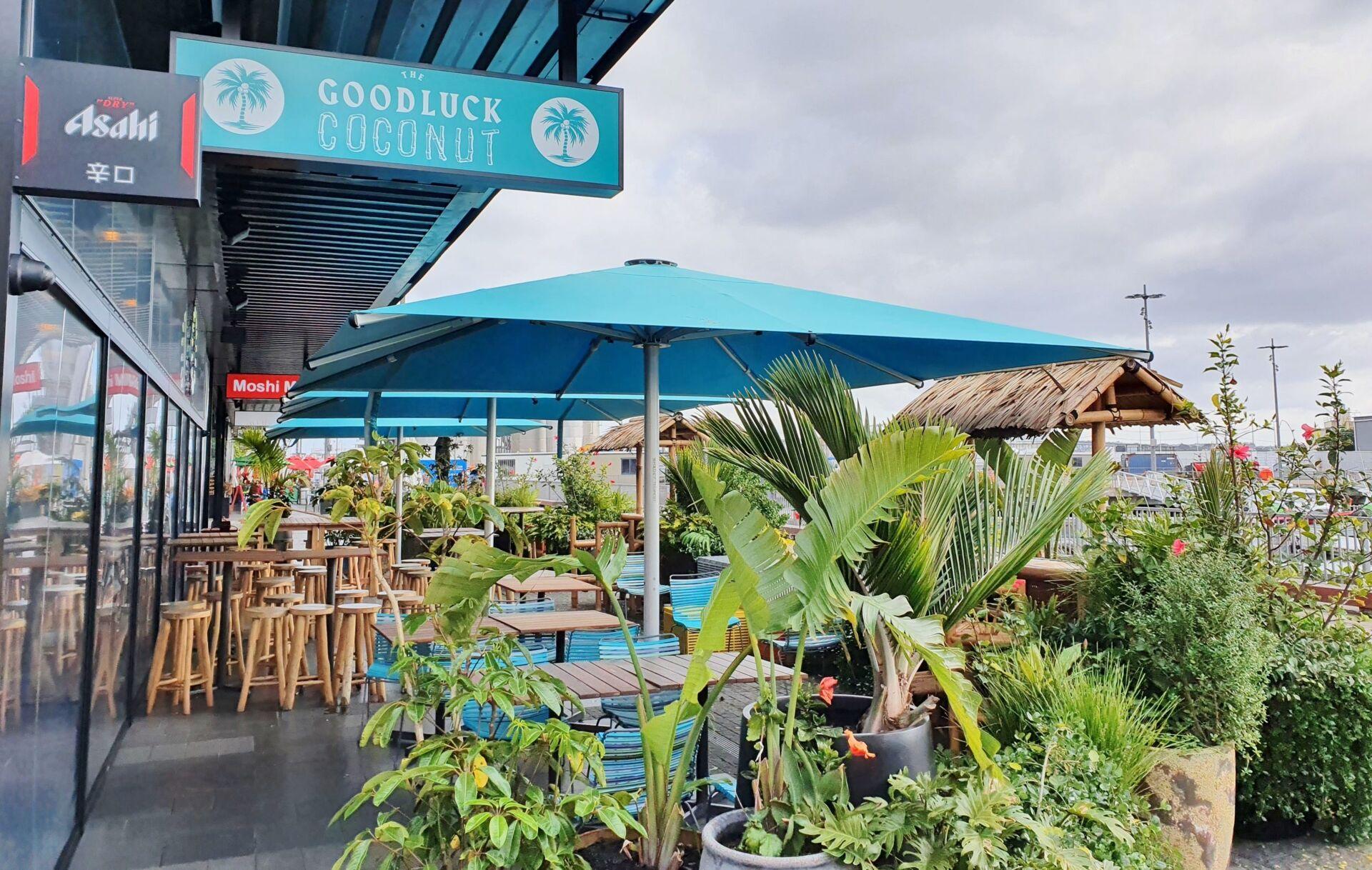 The Goodluck Coconut Tempest Commercial Umbrella