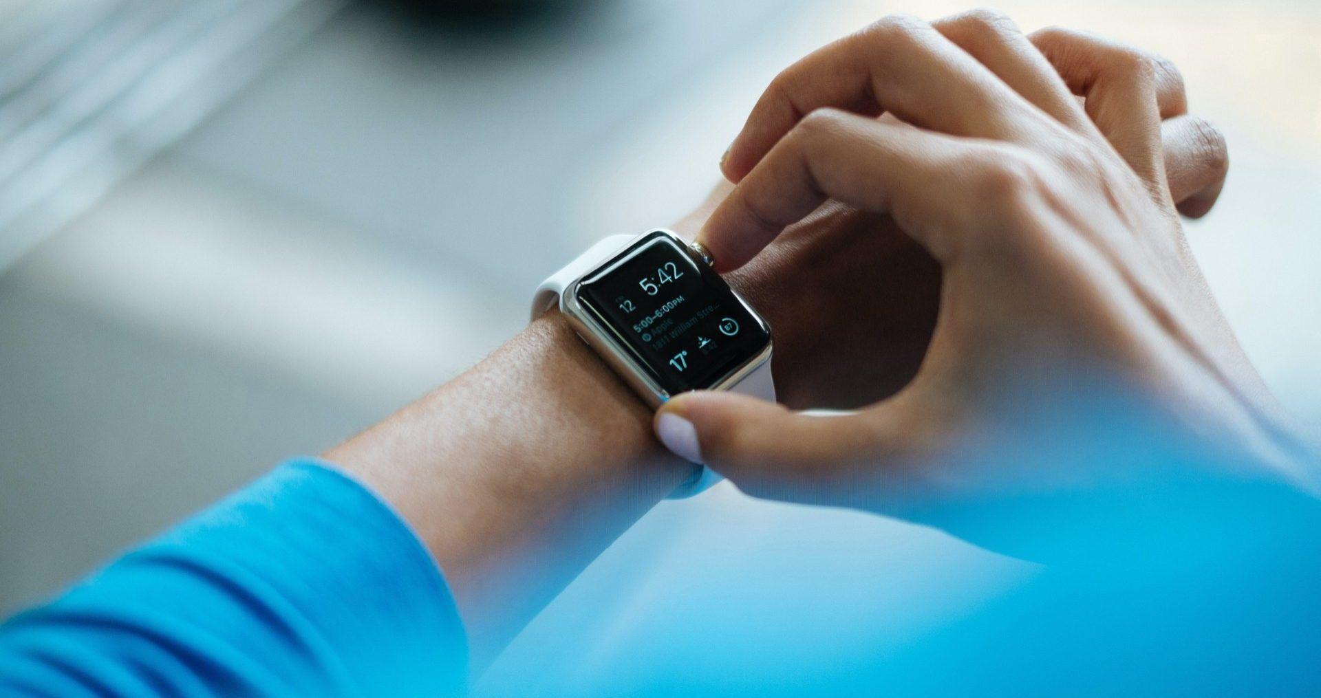 Patient using a smart watch