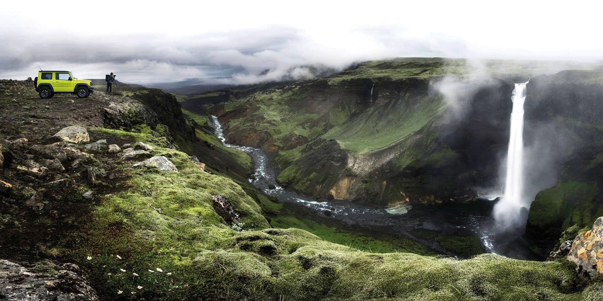 jimny at waterfall valley