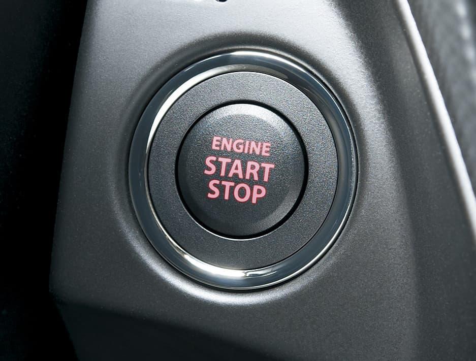 s cross engine start stop button