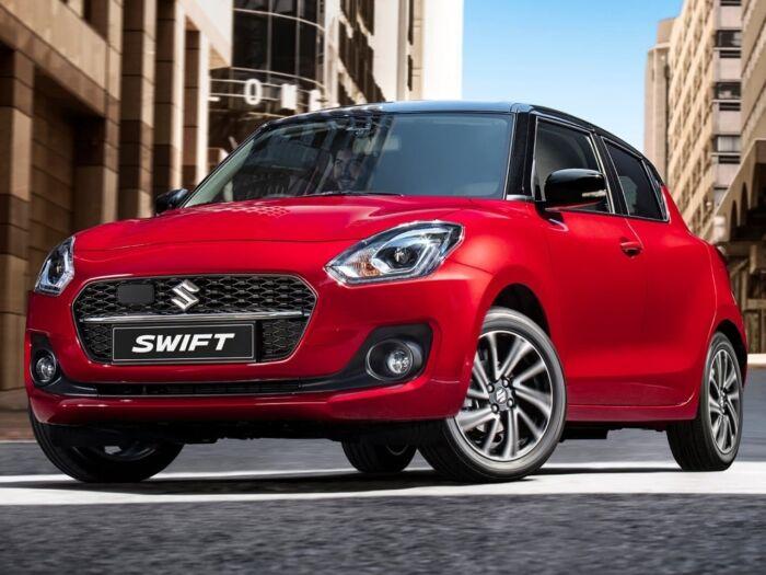 suzuki swift driving in street